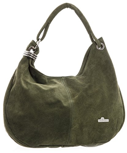 Suede Slouch Girls Strap Hobo Handbag Purse LIATALIA Single Olive Medium Italian Womens Real Boho Leather Large FIONA pUwXT1q