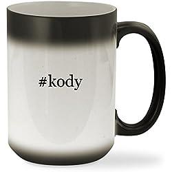 #kody - 15oz Black Hashtag Color Changing Sturdy Ceramic Coffee Cup Mug