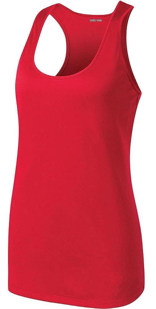 b75850826ee8b Amazon.com  Ladies Athletic Moisture Wicking Racerback Tank Tops Workout  Shirts XS-4XL  Clothing