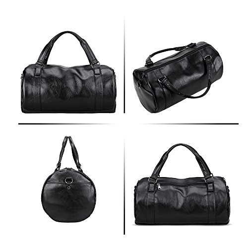 function High Travel Bag Luggage Jn Black Tote b Shoulder Multi 3097 2018 Pu Back Waterproof Capacity Leather Men's RHHv6xwqZ