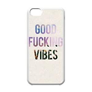 Personalized New Print Case for Iphone 5C, Good Vibes Phone Case - HL-504360