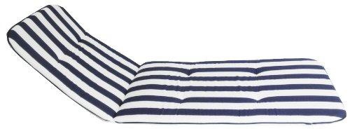 Cuscino per Garden Sedia a strisce blu e verde) Lunghezza -Totale 171 cm / larghezza 60 cm / spessore 5 cm beo MS08 Chicago LI