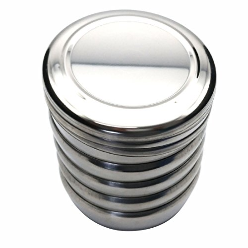 Korean Traditional Style Stainless Steel Rice Bowl with Lid Set of 5 by GARASANI (Image #7)