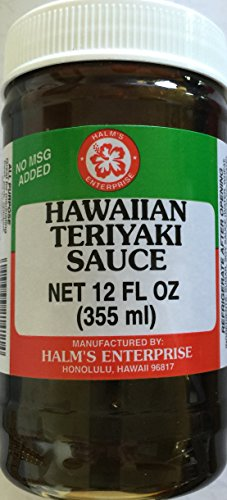 Halm's Hawaiian Teriyaki Sauce Hawaiian 12 Oz