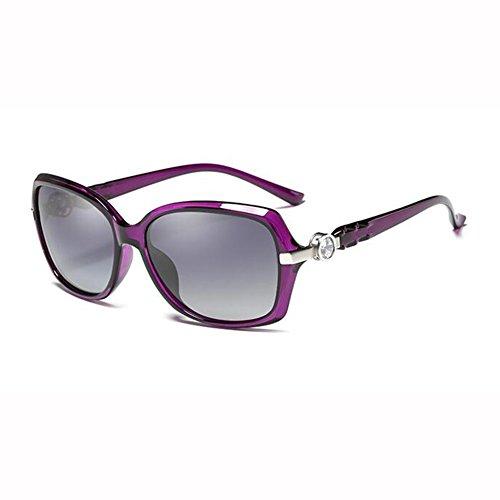 Color UV Luz Pequeña De Beat xin De Sol Gafas Caja Polarizada WX Moda Anti Street Imitación Diamante 5 1 Cara Manejar Elegante Pequeña R0vSqw7