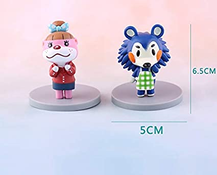 8 Pcs Animal Crossing Action Figures Kids Toys Cake Toppers Collection Playset