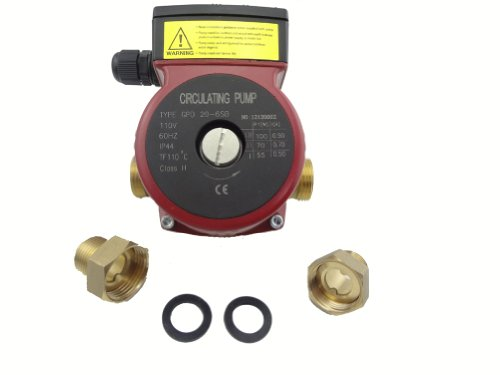 MISOL 110v Brass circulation pump 3 speed,for solar water heater or hot water heating