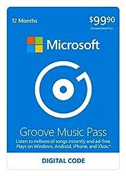 Microsoft Groove Music Pass - 12 Months - Xbox 360 / Xbox One Digital Code