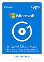 Microsoft Groove Music Pass - 12 Months - Xbox 360 / Xbox One Digital Code