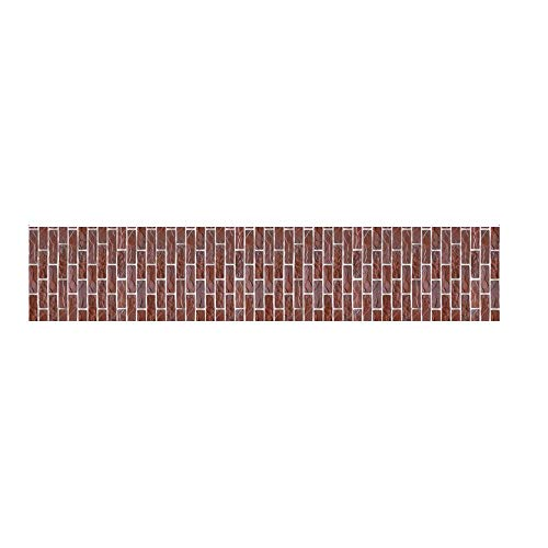 Susun affordable and unique style of daily household kitchen supplies 3D Wall Paper Brick Stone Effect Self-adhesive Room Decor (40 300cm, brown)]()