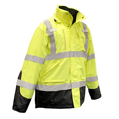 Radians SJ410B High Visibility Class 3 Three-in-One Weatherproof Parka SJ410B-3ZGS Green Size2X by Radians