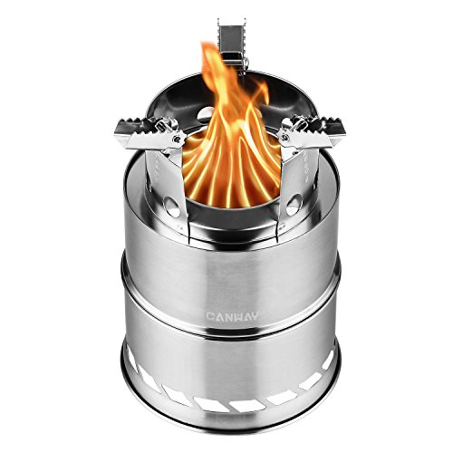 Canway Camping Stove, Wood Stove/Backpacking Stove,Portable Stainless Steel Wood Burning Stove Nylon Carry Bag