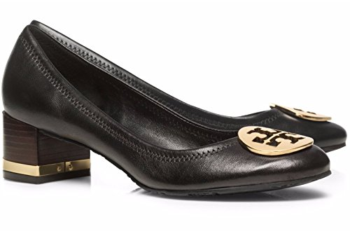 16e38fb74 Tory Burch Amy Shoes Heels Leather metal logo (9.5, Black Gold) - Buy  Online in Qatar. | Shoes products in Qatar - See Prices, Reviews and Free  Delivery.