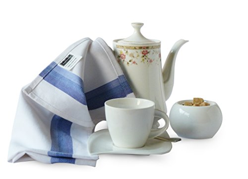 Harringdons Kitchen Dish Towels Set of 12-Tea Towels 100% Cotton. Large Dish Cloths 28″x20″ Soft and Absorbent. White with Blue, Green and red Stripes, 4 of Each. There's no Substitute for Quality