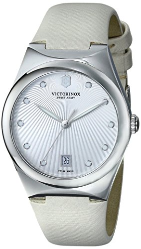 Victorinox Women's 241631 Victoria Analog Display Swiss Quartz Beige Watch