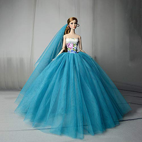 Ocamo Doll Clothes Elegant Wedding Dress Pretty Princess for sale  Delivered anywhere in Canada