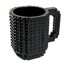 Yiding Build-On Brick Mug Coffee Cup DIY Type Plastic Creative Building Blocks Tea Beverage Drinking Funny Gift