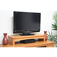 TV RISER STAND OAK SHAKER STYLE WITH MEDIUM FINISH (MEDIUM, 26 WIDE)