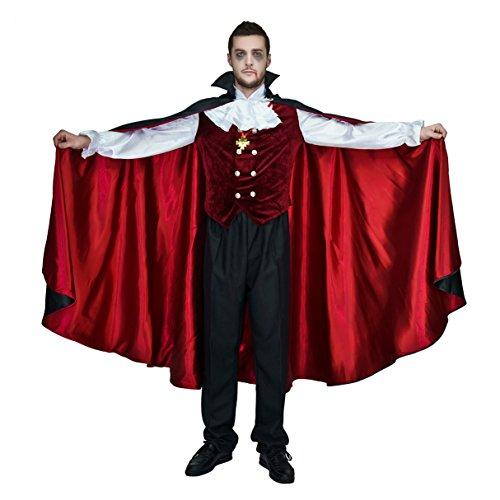 Vampire Gothic Adult Costumes (flatwhite Men's Halloween Gothic Vampire Costumes)
