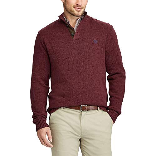 Chaps by Ralph Lauren Mens Kent Button Mockneck Sweater