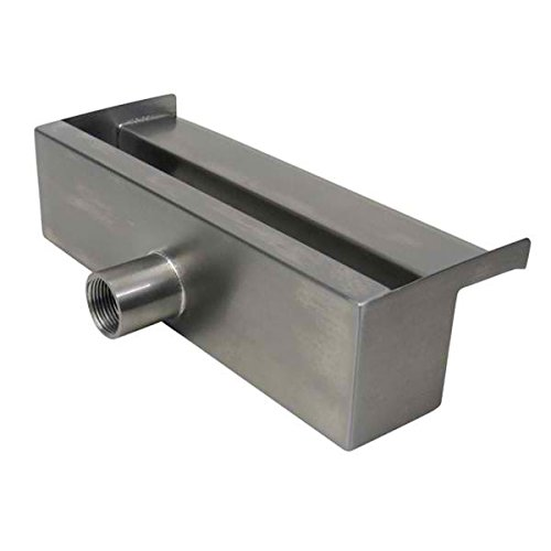 ProEco WSS12 12'' Stainless Steel Waterfall Weir Spillway 1000 GPH