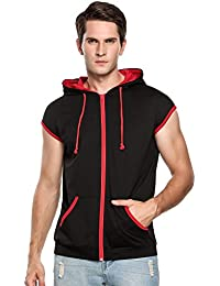 Casual Fashion Lightweight Sleeveless Hoodies Zip-up Vest Tank Top