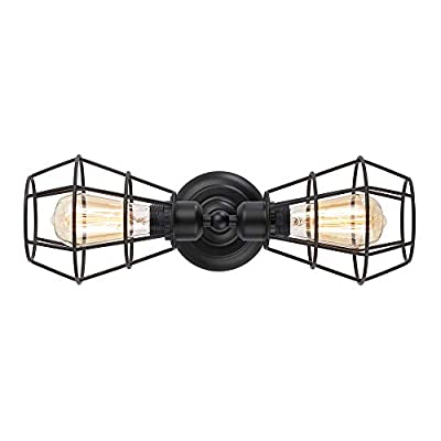 KOONTING 2-Light Industrial Bathroom Vanity Light, Metal Wire Cage Wall Sconce, Vintage Edison Wall Lamp Light Fixture for Bathroom Dressing Table Mirror Cabinets Vanity Table Living Room Porch. - ◆Material & Design: Heat resistant phenolic resin for lamp holder and anti deformation ferroalloy for cage. Cage design sends out a vintage industrial feeling. It well protects the bulb and maximizes its light, and increases the classic ambiance in any space. ◆Type of bulb: It works well with any E26 base LED bulb and incandescent bulb, The light itself is not dimmable, but it can works with dimmable bulbs and need a dimmable light switch. ◆Easy install: This industrial vanity light comes with all mounting hardware for quick and easy installation. - bathroom-lights, bathroom-fixtures-hardware, bathroom - 41wd1PbdtKL. SS400  -
