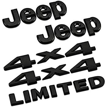 amazon matte black jeep badge decal emblem car sticker Tactical Jeep Rubicon 5pcs set am13 black car styling accessories chromed emblem badge decal sticker jeep 4 x 4 limited for cherokee patriot wrangler pass