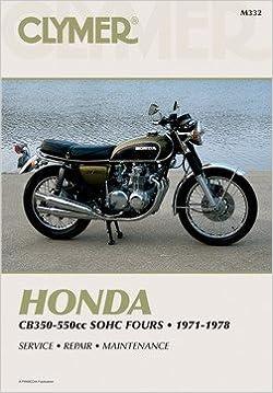 honda cb350f cb400f cb500 cb550 clymer repair manual clymer manuals
