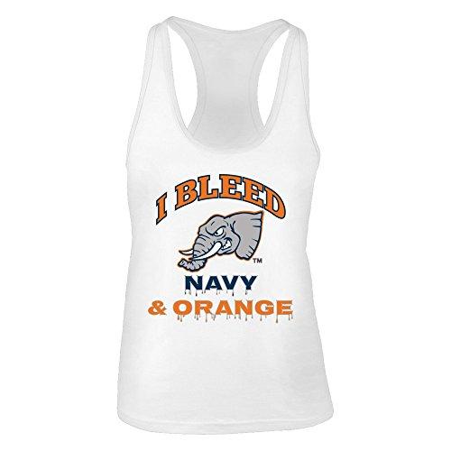 FanPrint Cal State Fullerton Titans Tank Top - I Bleed Fullerton Navy and Orange! - Women