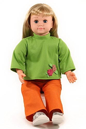Ask Amy 22  Talking Interactive Singing Storytelling Smart Educational Doll Blond In Green Shirt
