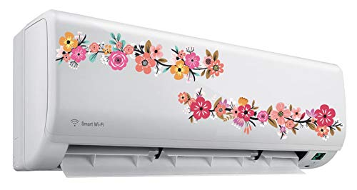 Heaven Decors AC Sticker Wall Sticker Vine Flower Air Conditioner Sticker Standard Size 41wd2l22vIL India 2021