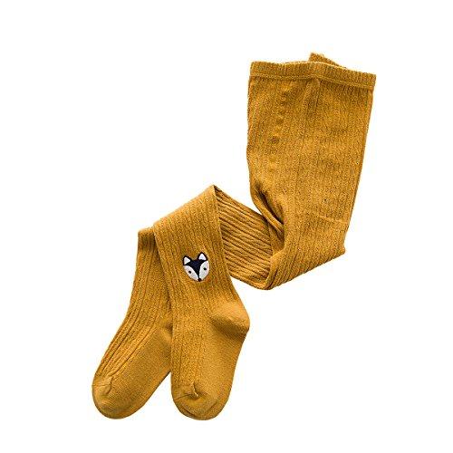 Yellow Gold Stock - Rallytan Girls Pantyhose Knitting Daily Tights Embroidery Pattern Stockings,Yellow,X-large