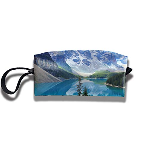 Pullma Toiletry Bag Moraine Lake Cosmetic Pouch,Clutch Bag,Portable Travel Handle Organizer for Women Teens Girls