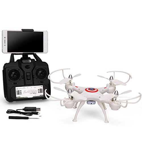 Dwi Dowellin WiFi FPV Drones with Camera Headless mode 2.4GHz 6-Axis Gyro RC quadcopter helicopter D4W1