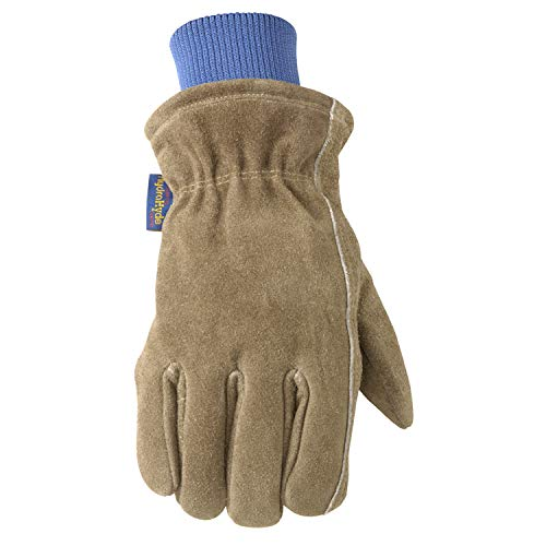 Men's HydraHyde Insulated Split Leather Winter Work Gloves, Large (Wells Lamont 1196L) ()