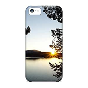 New Shockproof Protection Case Cover For Iphone 5c/ Sunset Over East Sound Case Cover