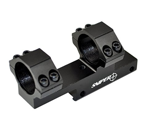 SNIPER® .22 Dovetail Scope Mount Integral Cantilever Rings for Airgun Air Rifle .22 22; 21mm Saddle Height; 38mm Offset (22 Air Rifle Rings)