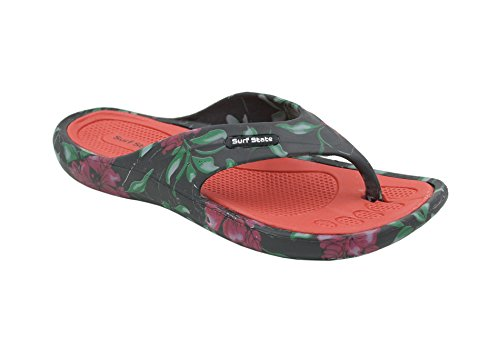 Flip Surf Red EVA Flops Lightweight State Ladies xHPUrqwHfI