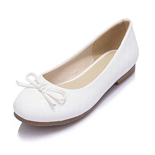 testa 40 stagioni nodo HQuattro white piatta farfalla scarpe H donne dentellare rotonda Beige di quadrata inferiore Bianco dolce T1nHfUW