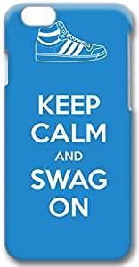Keep Calm And Swag On Apple iPhone 6 Case, 3D iPhone 6 Cases Hard Shell Cover Skin Cases
