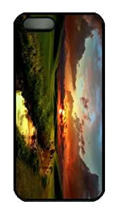 case designer covers sunset creek scenery PC Black Case for iphone 5/5S