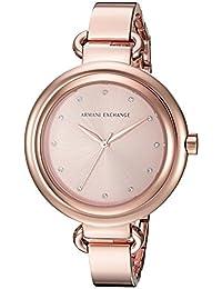 Armani Exchange Women's AX4241 Smart Watch Analog Display Analog Quartz Rose Gold Watch