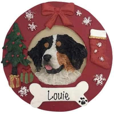 Ornaments Dog Mountain (Bernese Mountain Dog Personalized Ornament - (Unique Christmas Tree Ornament - Classic Decor for A Holiday Party - Custom Decorations for Family Kids Baby Military Sports Or Pets))