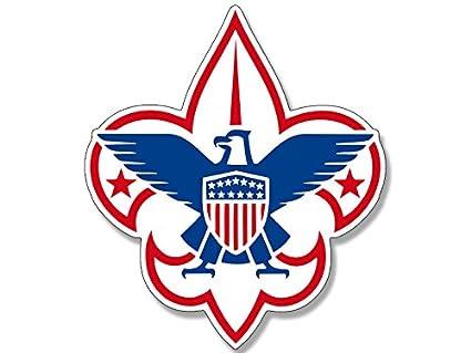 amazon com boy scouts america fleur de lis logo sticker scouting rh amazon com boy scout logo eps boy scout logo stickers