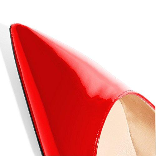 Tacco Col Lutalica Scarpe Patent Donna Rot 6qqfxwEn