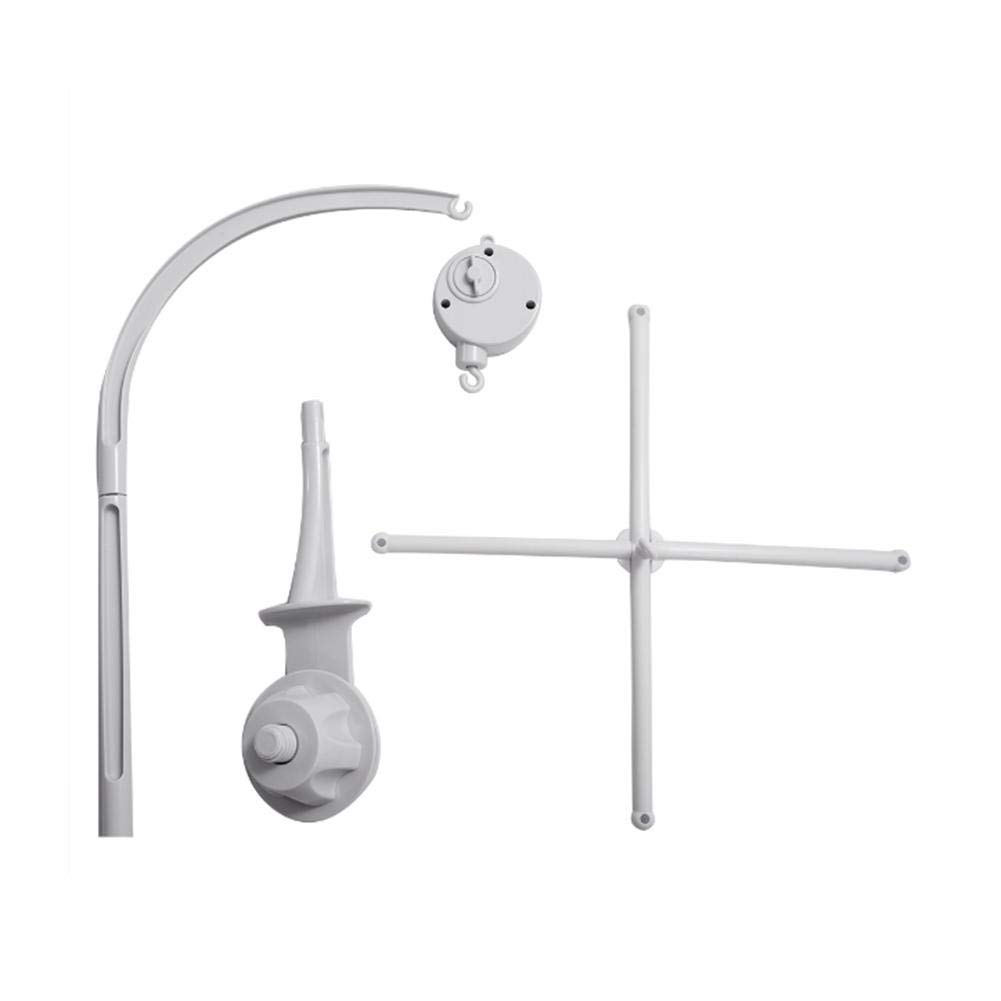 Doll Toy Baby Bed Bell Bracket Set,34 Inch Baby Crib Mobile Music Box Holder Arm Bracket Nut Screw Box for Music Box Bell