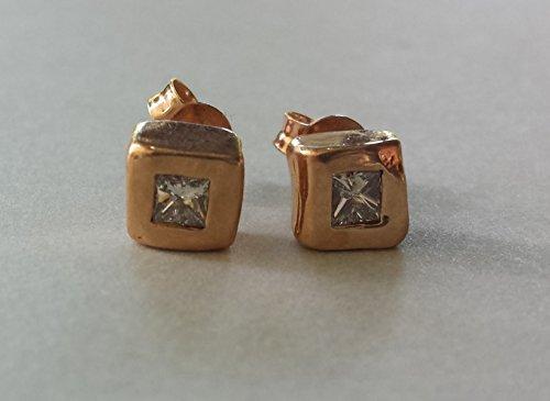 Contemporary Princess Earrings (Princess Earrings - Rose)