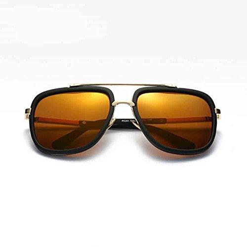 Lunettes de Métal Mercury de Black Lunettes Mode Sunny Black gold gold Unisexe Silver Polarisées de Honey Couleur la Conduite Personnalité Conduite Masculine q4zXq