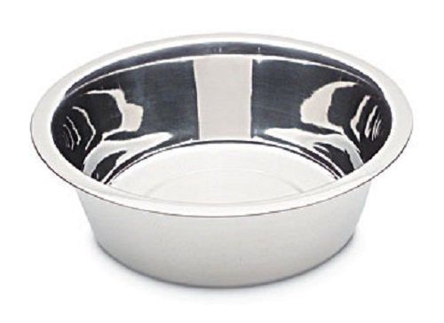 Petmate 8-Cup Stainless Steel Bowl (2 Quart Dog Bowl)